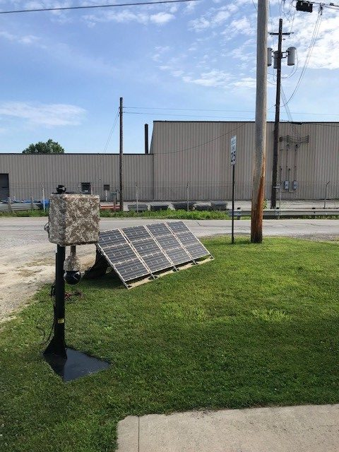 Solar Power Surveillance Camera Demonstration